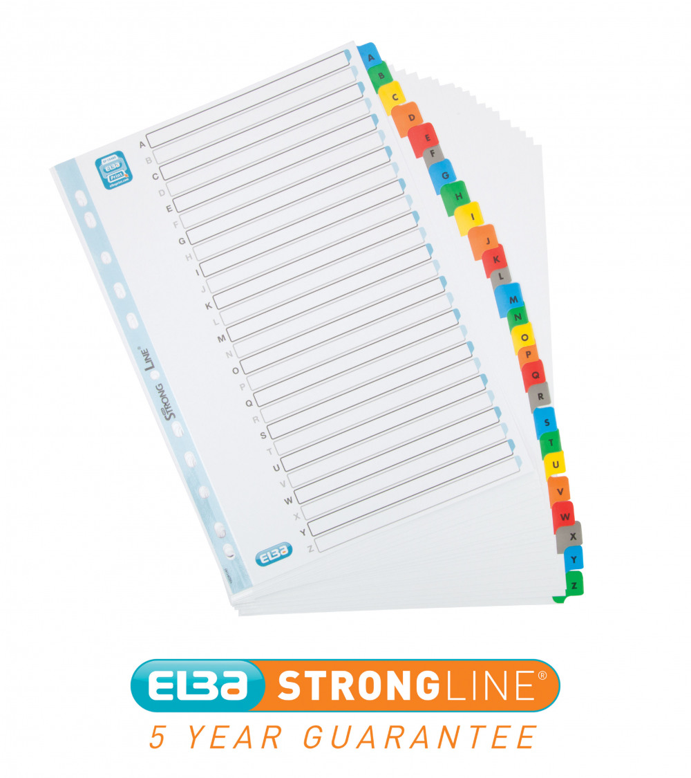 ELBA A4 PP IDX A-Z WHT 100204726