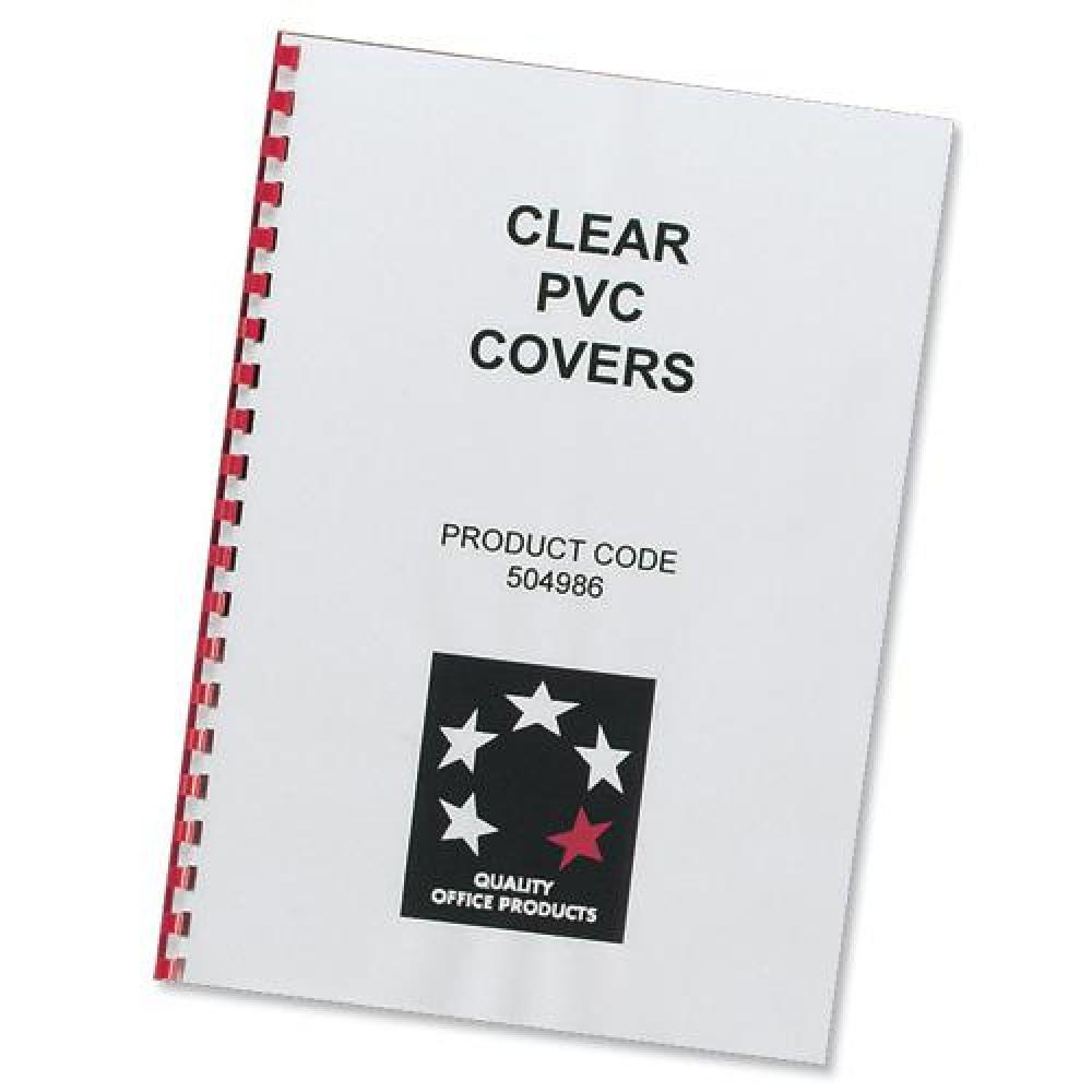 5 STAR BINDING CVR PVC CLR A4 200MIC
