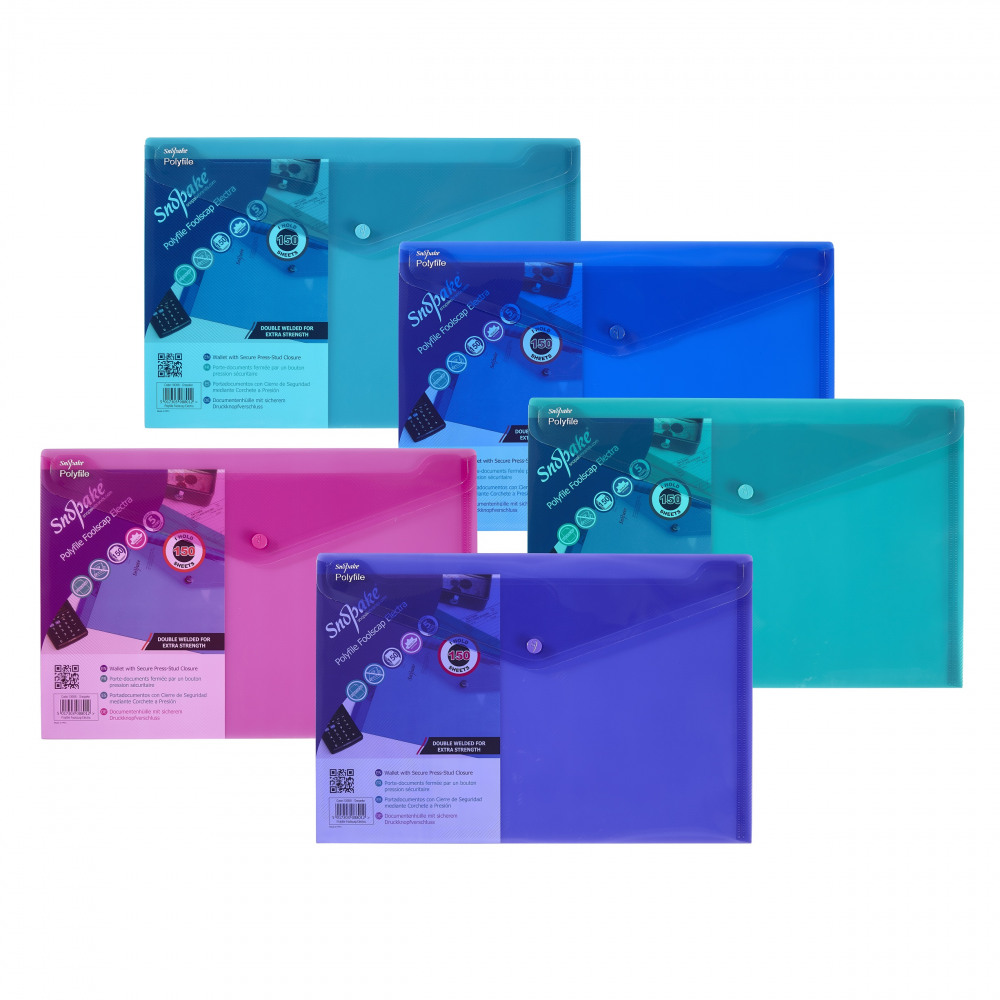 Asd Sa office supplies - snopake polyfile electra fs plus asd pk5