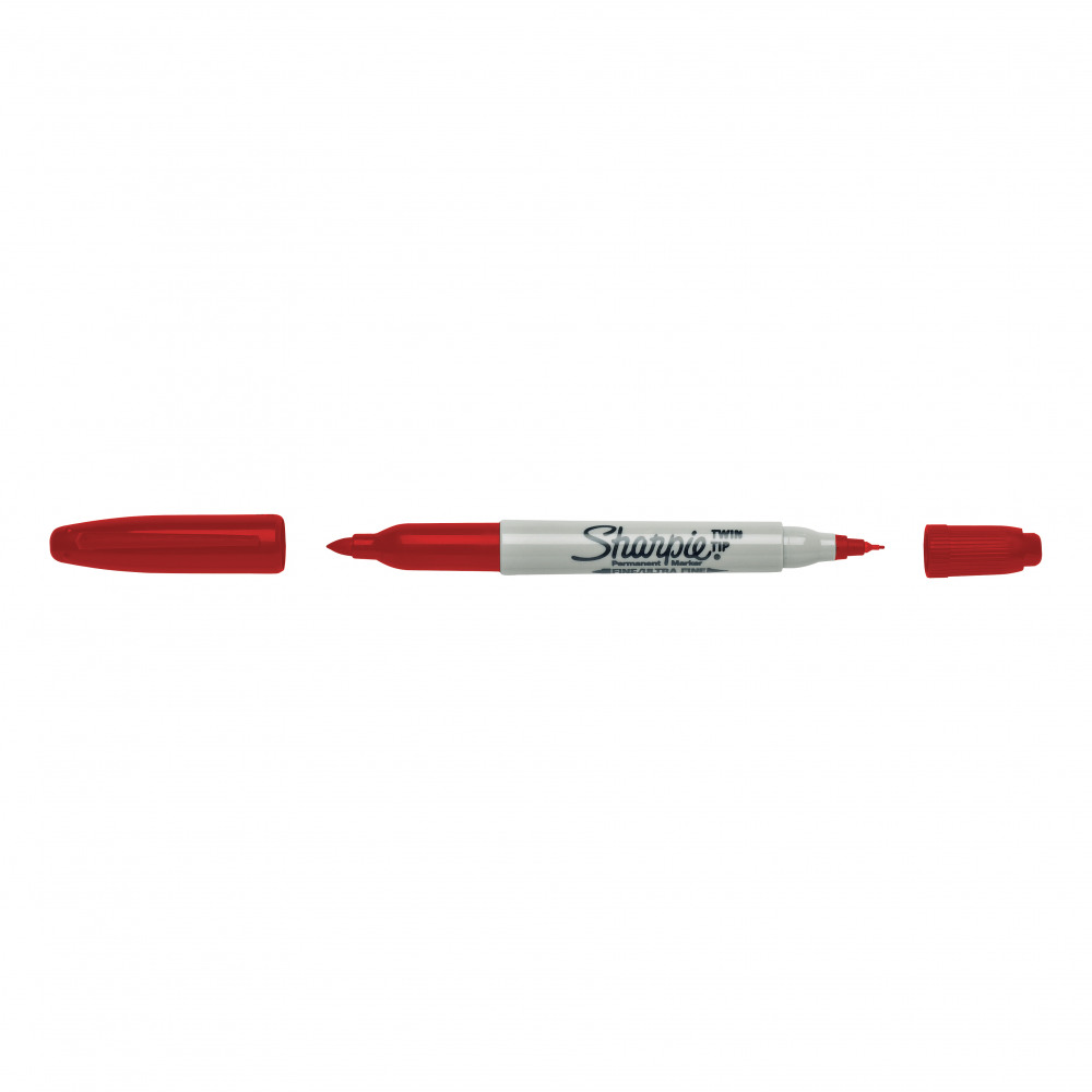 S0810940 Sharpie Red Permanent Marker Fine Pack of 12