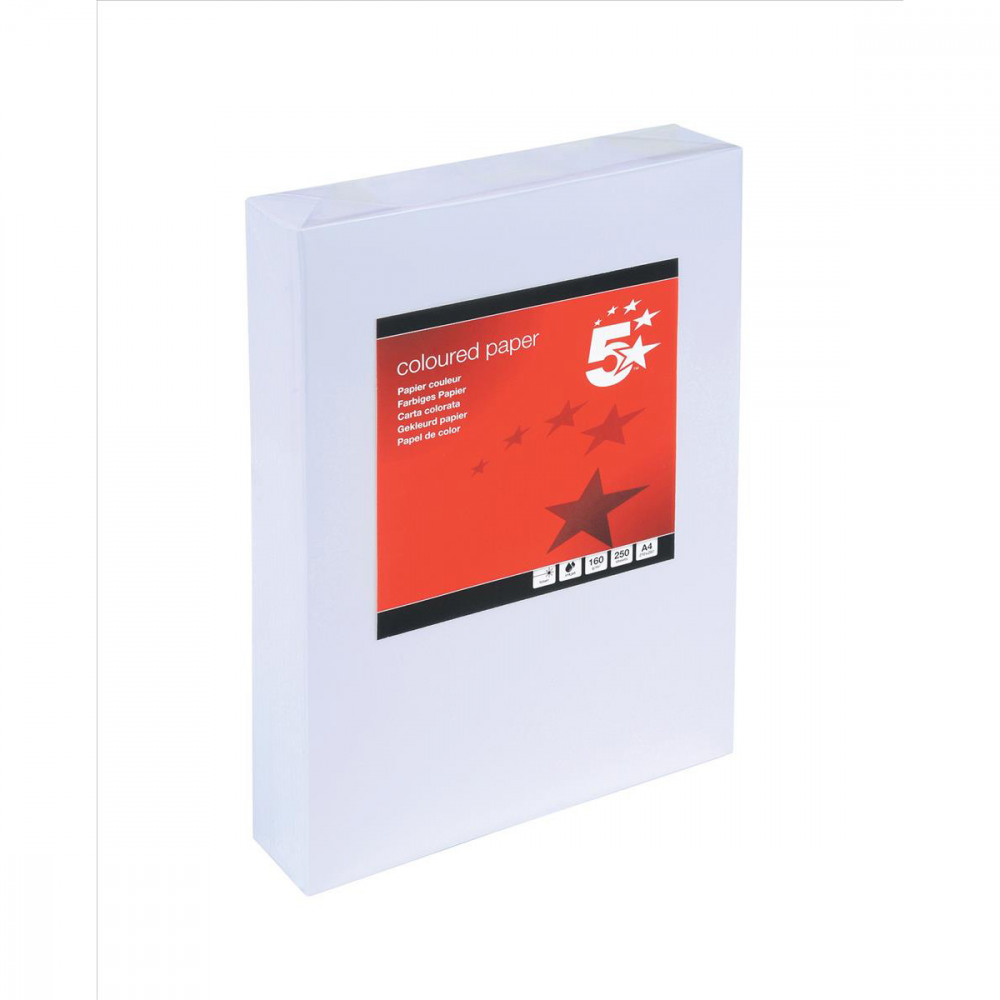 5 STAR CARD A4 160GM WHITE PK250