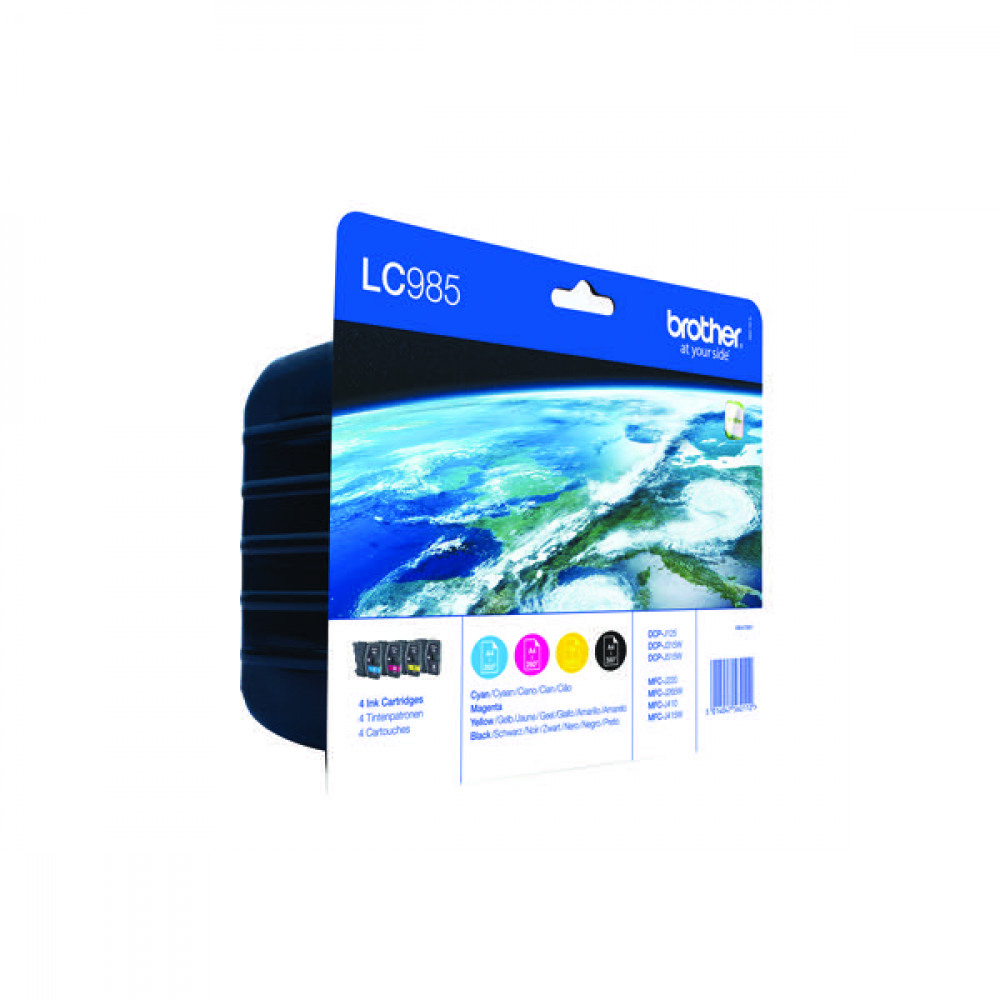 BROTHER LC985 C/M/Y/B INK VALUE PACK