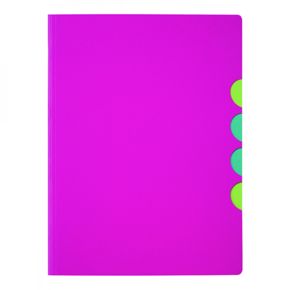 DURABLE PAGNA 5PT FOLDER A4 D PINK PK10