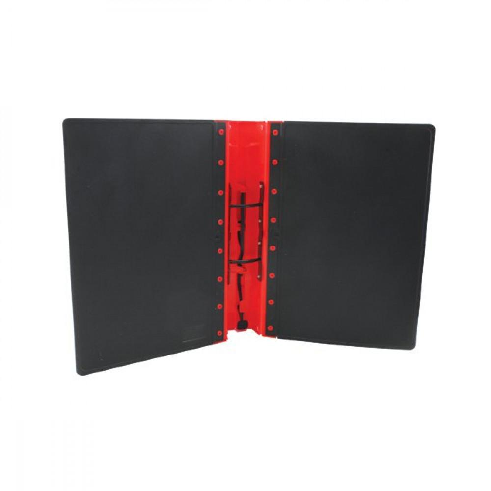 Guildhall Gl Ergogrip Binder Capacity 400 Sheets 4 Prong 4509z: GUILDHALL GLX ERGOGRIP RED A4 BINDER PK2