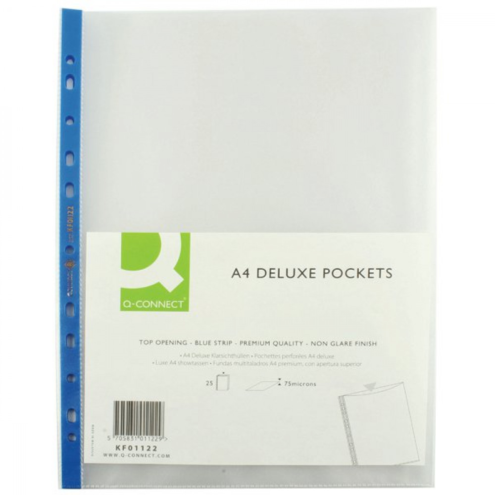 Q CONNECT PUNCHED POCKET A4 P100