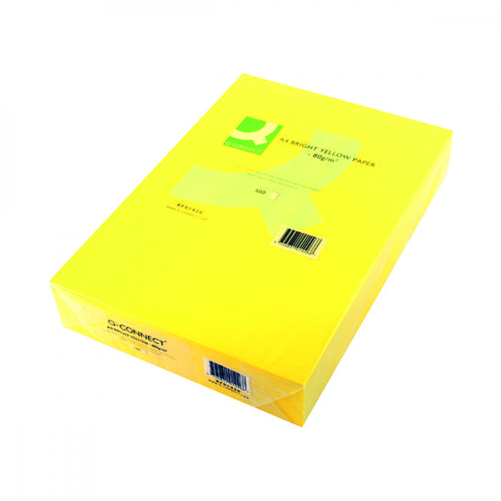 ePower - Q CONNECT CPR PPR A4 80GM B/YELLOW PK500