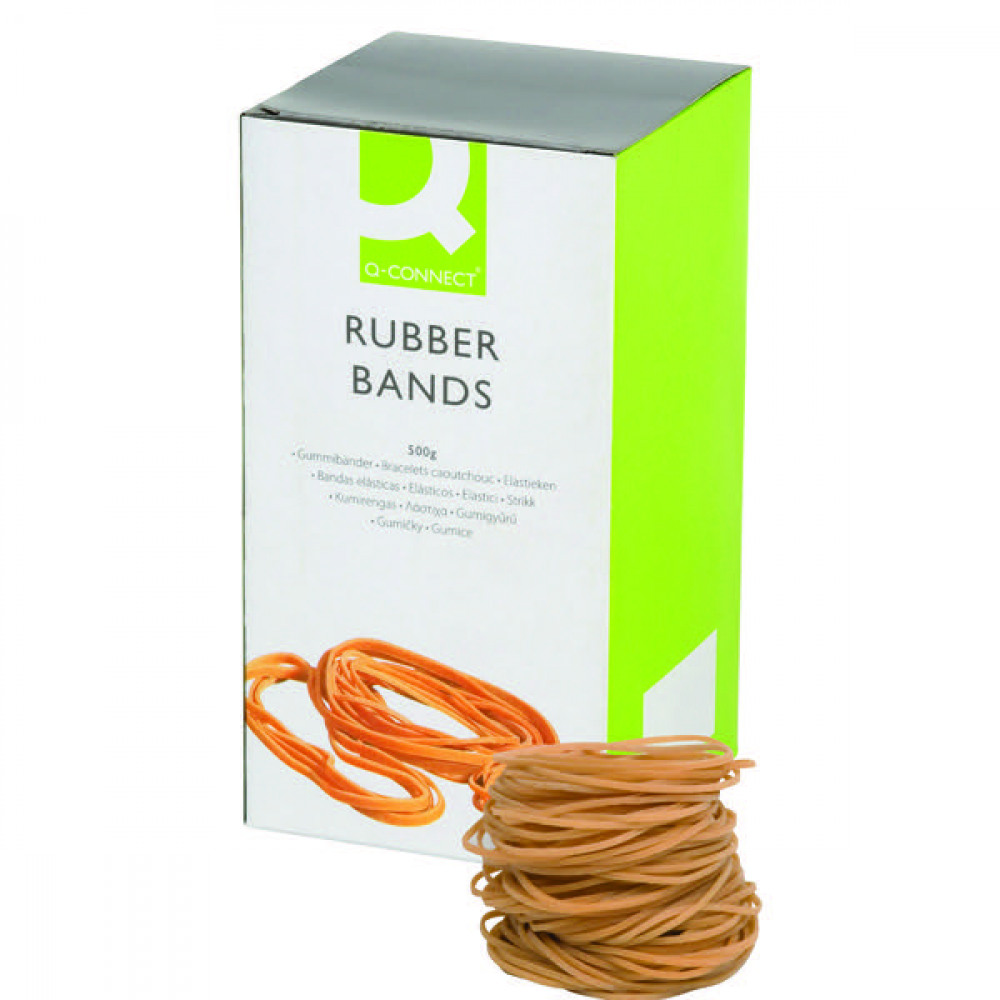 Q-CONNECT NO.24 RUBBER BANDS 500G PACK