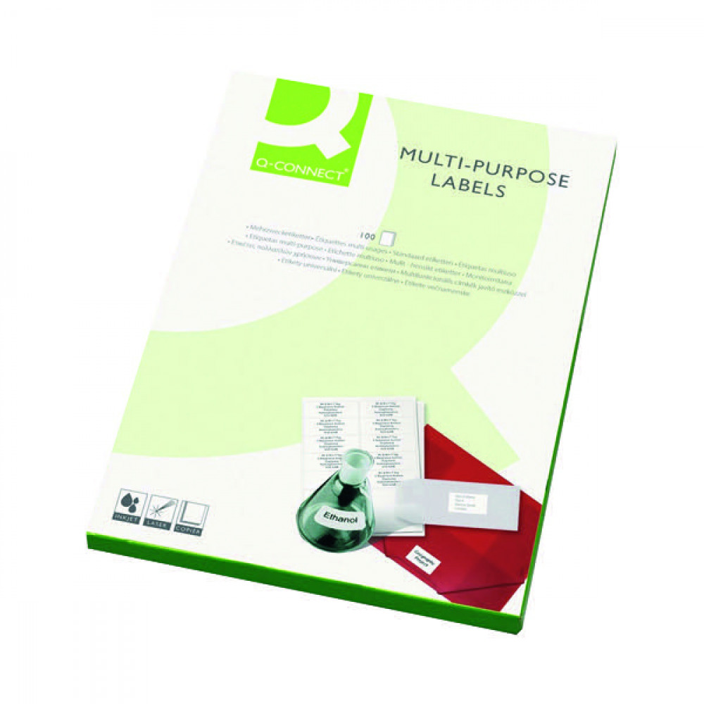 Q-CONNECT MULTIPURPOSE LABELS PK200
