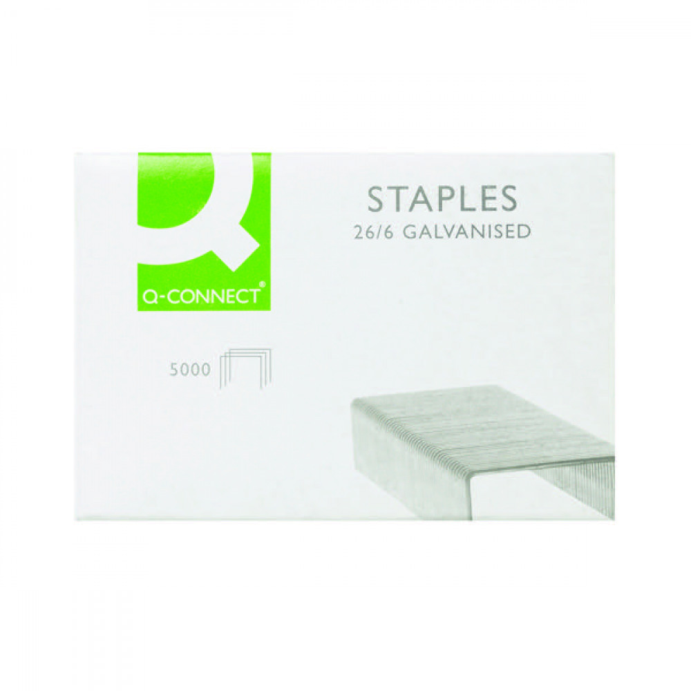 Q-CONNECT 26/6MM METAL STAPLES PK5000