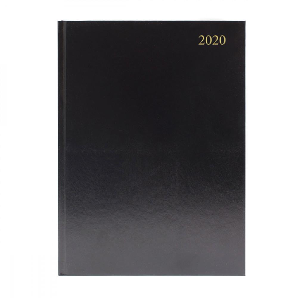 BLACK A4 DESK DIARY DPP 2020