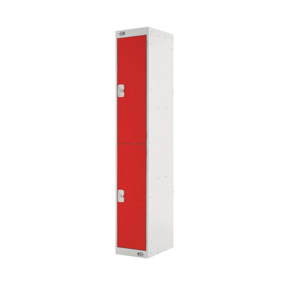 FF DD 2DOOR LOCKER 300X300X1800 RED DOOR