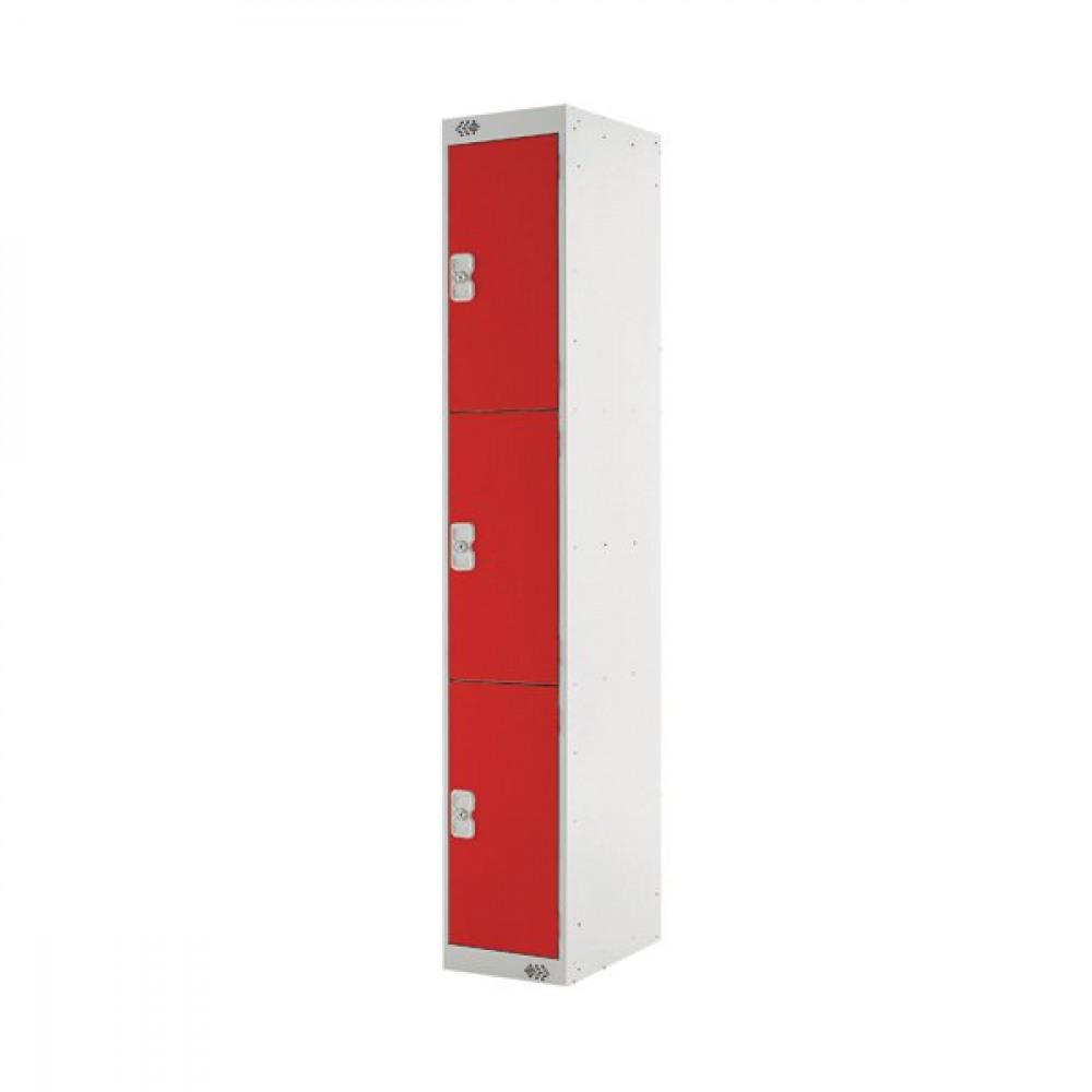 FF DD 3DOOR LOCKER 300X450X1800 RED DOOR