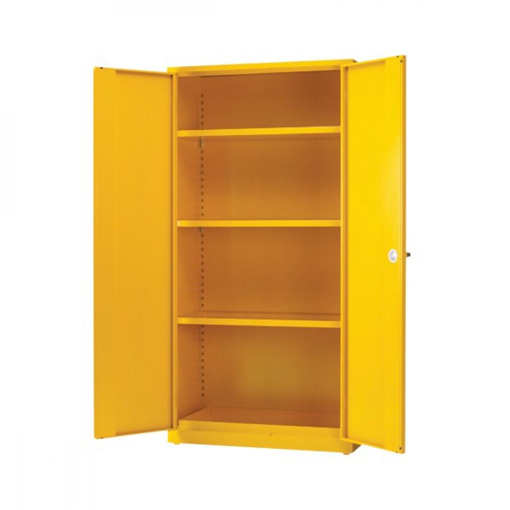 Epower Yellow 3 Shf Hazard Storage Cabinet 72in