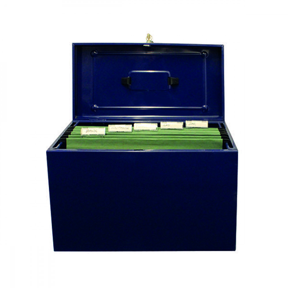 CATHEDRAL METAL FILE BOX HO FS BLUE
