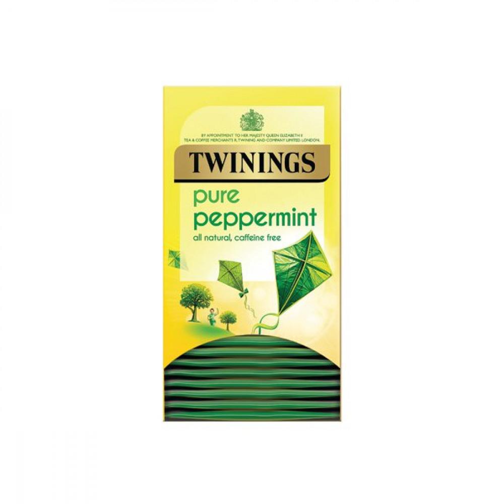 TWININGS PURE PEPPERMINT HERBAL TEA PK20