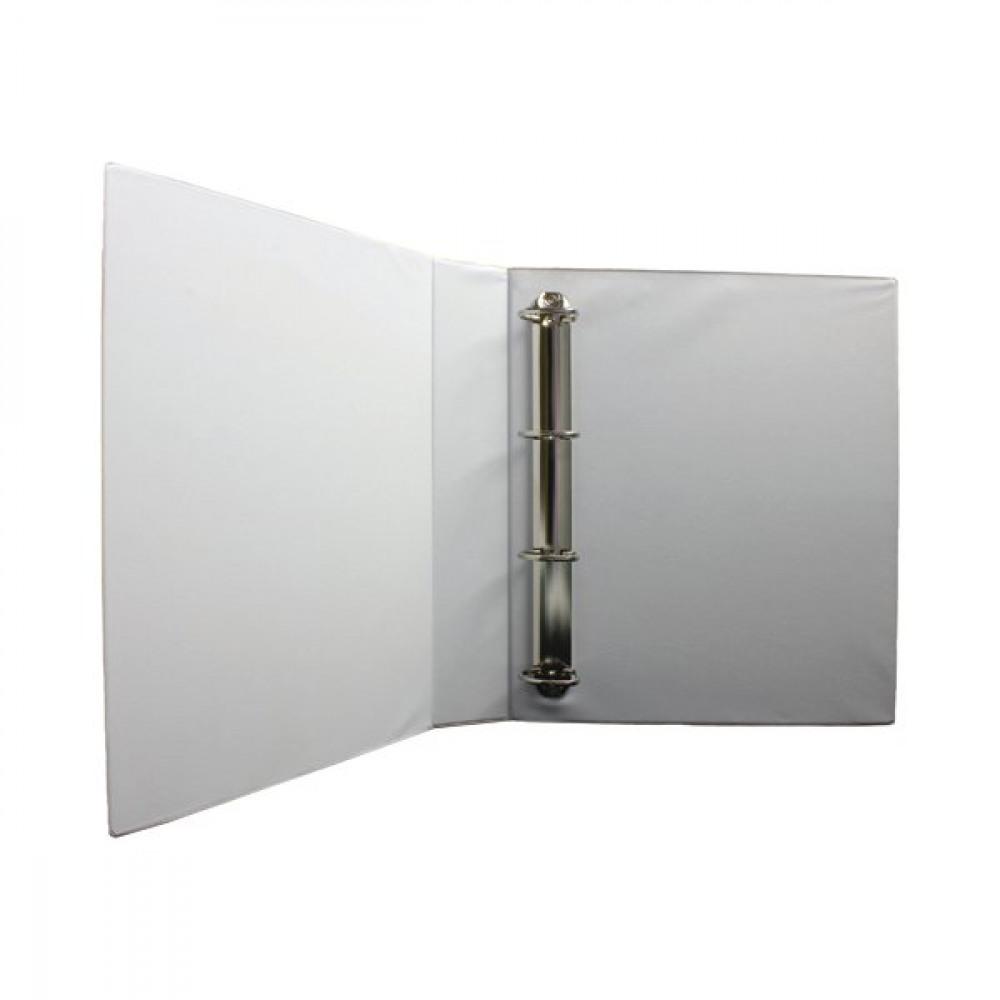 WHITE 40MM PRES 4D-RING BINDER PK10