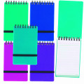 Snopake Noteguard Wirebound Hardback Notebook 76x127mm Assorted (Pack of 5) 14324
