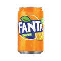 Fanta Orange Soft Drink 330ml Can (Pack of 24) 402006 A00769