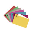 Q-Connect Square Cut Folder Lightweight 180gsm Foolscap Assorted (Pack 100) KF01491
