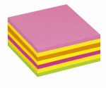 Post It Neon Pink Rainbow Cube Hanging Flow Wrap 325 Sheet Cube 2014LP