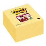 Post-it Super Sticky 101x101mm Lined Canary Yellow (Pack of 6) 675-SS6CY