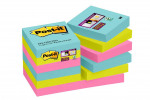 Post-it Notes Super Sticky 47.6x47.6mm Miami (Pack of 12) 622-12SS-MIA