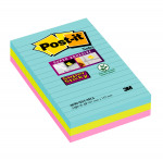 Post-it Notes Super Sticky 101 x 152mm Miami (Pack of 3) 4690-SS3-MIA