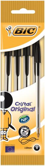 Bic Cristal Medium Ballpoint Pen Medium Black (Pack of 40) 8308591
