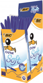 Bic Cristal Soft Ballpoint Pen Medium Blue (Pack of 50) 951434