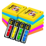 Post-it Notes Super Sticky 76 x 76mm Rio (Pack of 6) Buy 2 Get FOC Bright Arrows 3M810110