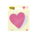 Post-it Notes Heart Shape 75 Sheets 70 x 72mm (Pack of 2) 7100236596