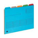 Elba 5 Tabbed Folder A4 Assorted (Pack of 5) 100330160