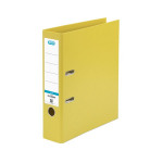 Elba 70mm Lever Arch File Plastic Yellow A4 100080901