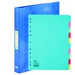 Elba Classy Ring Binder Blue FOC 10 Part Divider BX810435