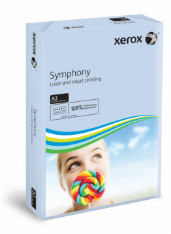 Xerox A3 Symphony Tinted 80gsm Pastel Blue Copier Paper (Pack of 500) 003R91953