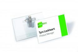 Durable Combi Clip Badge 54x90mm Transparent (Pack of 50) 8101-19