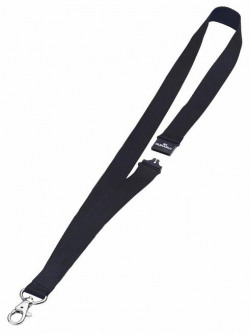 Durable Textile Badge Lanyard 20mm Black (Pack of 10) 8137/01