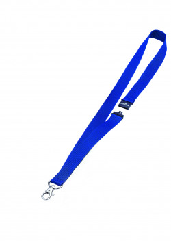 Durable Textile Badge Lanyard 20mm Blue (Pack of 10) 8137/07