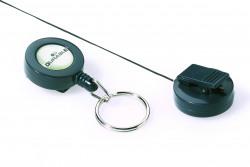 Durable Badge Reel Keyring Charcoal (Pack of 10) 8222/58