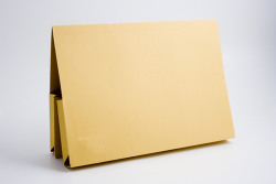 Exacompta Guildhall Legal Double Pocket Wallet Foolscap Yellow (Pack of 25) 214-YLW