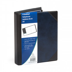 Exacompta Guildhall Telephone Address Book A-Z index A5 Blue DTAA5/BL