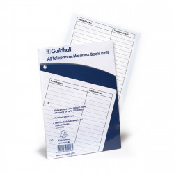 Exacompta Guildhall Ruled Telephone Address Book Refill A5 GA5/R