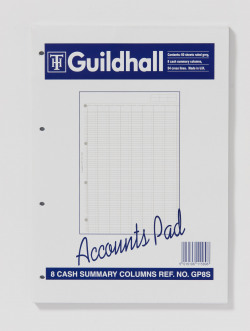 Exacompta Guildhall Account Pad 8-Column Summary A4 GP8S