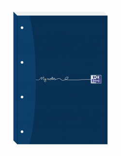 Oxford My Notes Ruled Margin Four-Hole Refill Pad 200 Pages A4 (Pack of 5) 846400176