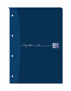 Oxford My Notes Ruled Margin Four-Hole Refill Pad 160 Pages A4 (Pack of 5) 846400177