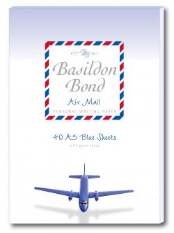 Basildon Bond Airmail Pad 148 x 210mm Blue (Pack of 10) 100104698