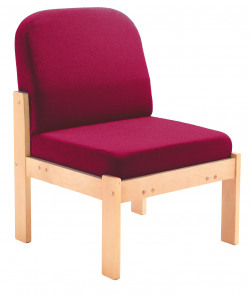 FF First Wooden Reception Side Chair Claret OF0309CL