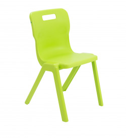 Titan One Piece Chair 460mm Lime (Pack of 30) KF78646