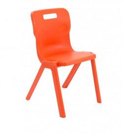 Titan One Piece Chair 460mm Orange (Pack of 30) KF78644