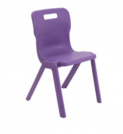 Titan One Piece Chair 460mm Purple (Pack of 30) KF78643